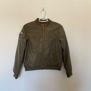 joe fresh girl green bomber jacket